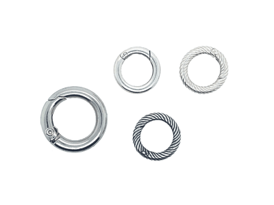 Small Silver Circular Closures