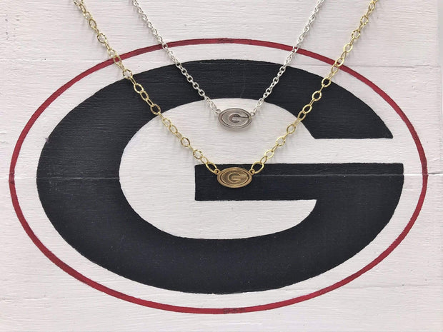 Rye Garnets Necklace,  Georgia Bulldogs Necklace, Green Bay Packers Necklace, Grambling State University Tigers Necklace, Greenwood Eagles Necklace