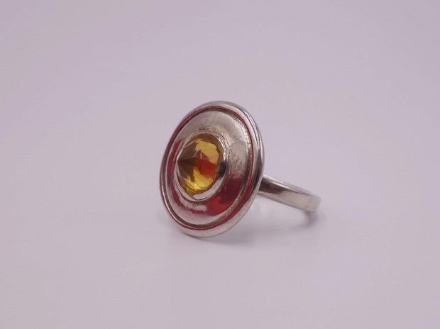 Citrine Spaceship Sterling Silver Ring