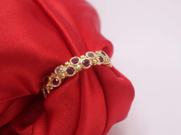 Gold Ring with Rubies and Sapphires