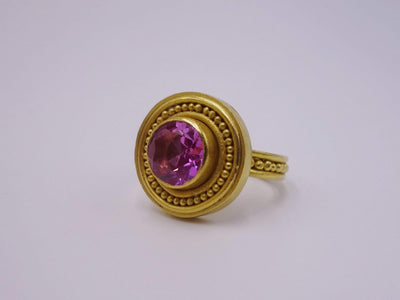 Tourmaline Gold Statement Ring