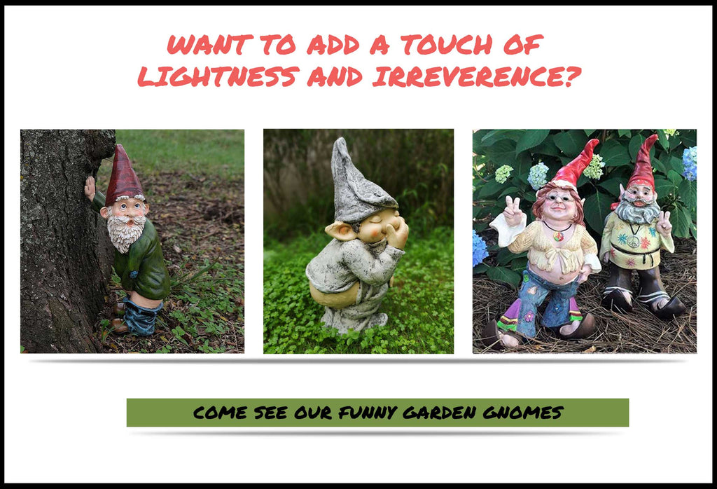 Funny Garden Gnomes Doing Crazy Stuff In Garden With You
