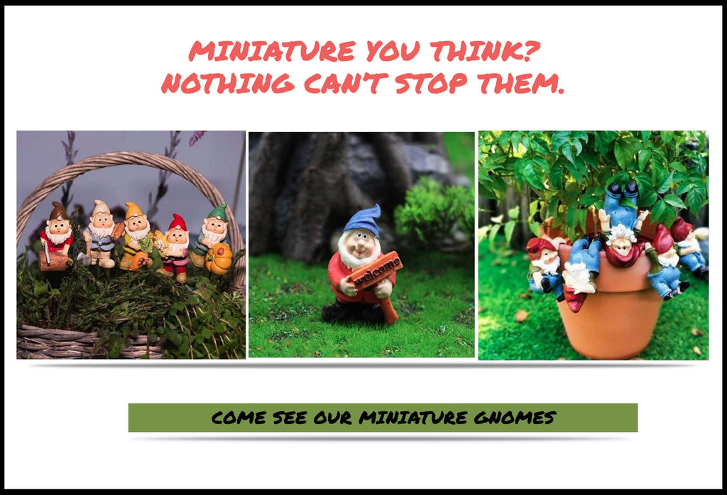 Miniature Gnomes In Flowerpot Or On Grass