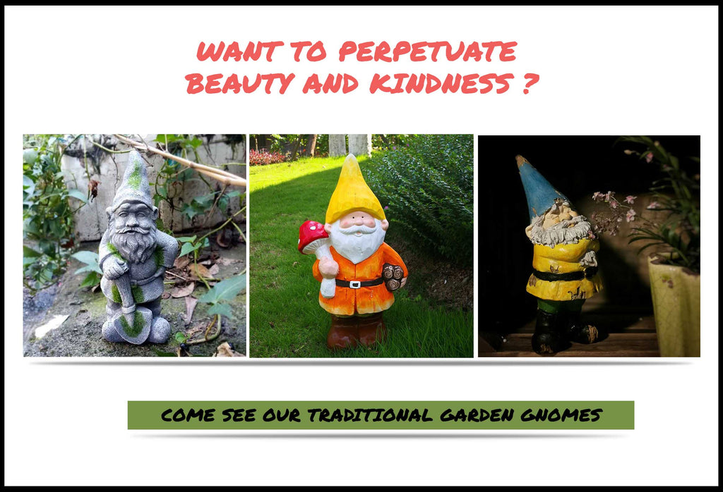 Traditional Garden Gnomes Smiling In Your Backyard