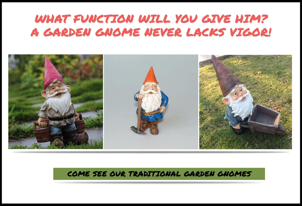 Traditional Garden Gnomes Banner For 7 Dwarfs Snow White Role