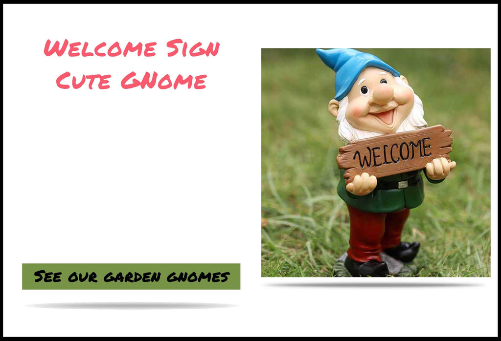 Welcome Sign Cute Gnome