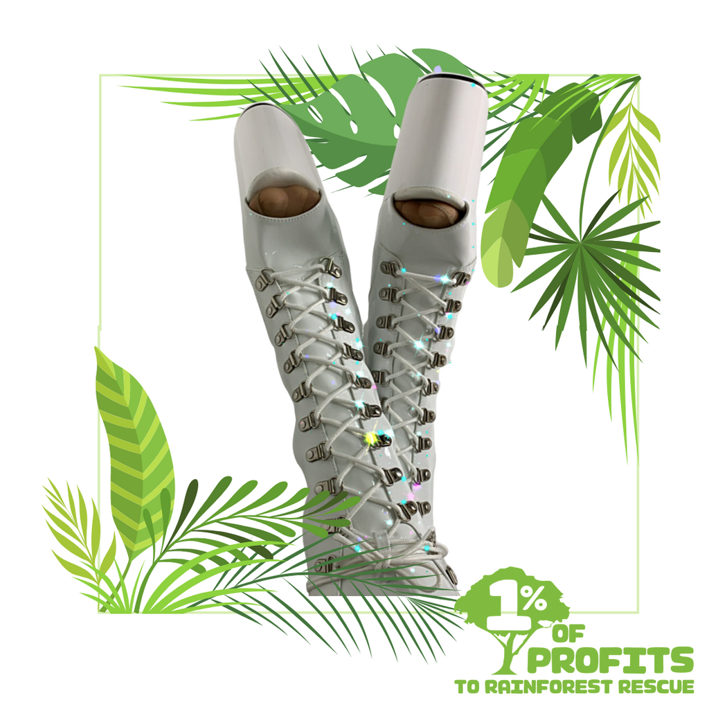 1% for the rainforest Sky High Heels charity partners