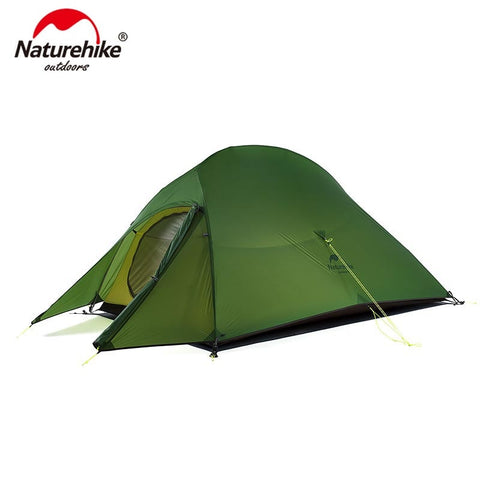 Naturehike Upgraded Cloud Up 2 Ultralight Tent Free Standing 20D Fabric Camping Tents For 2 Person With free Mat NH17T001-T Naturehikeアップグレードクラウド最大2超軽量テント無料立ち20Dファブリックのキャンプのテント自由マットNH17T001-Tで2人のため ネイチャーハイク