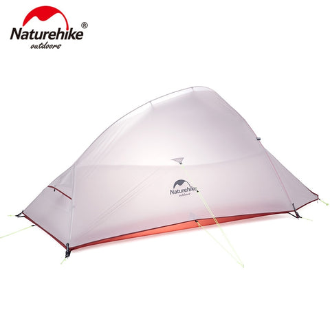 Naturehike Cloud Up Series Ultralight Camping Tent Waterproof Outdoor Hiking Tent 20D Nylon Backpacking Tent With Free Mat フリーマット付きNaturehikeクラウドアップシリーズ超軽量キャンプのテント防水屋外ハイキングテント20Dナイロンバックパッキングテント ネイチャーハイク