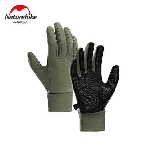 Naturehike Outdoor Touch-screen Non-slip Full Finger Cycling Gloves Silicone Hiking Climbing Men Women Thin Cycling Gloves Naturehike屋外タッチスクリーンノンスリップフルフィンガーサイクリンググローブシリコーンハイキングは男性女性シンサイクリンググローブ登山 ネイチャーハイク
