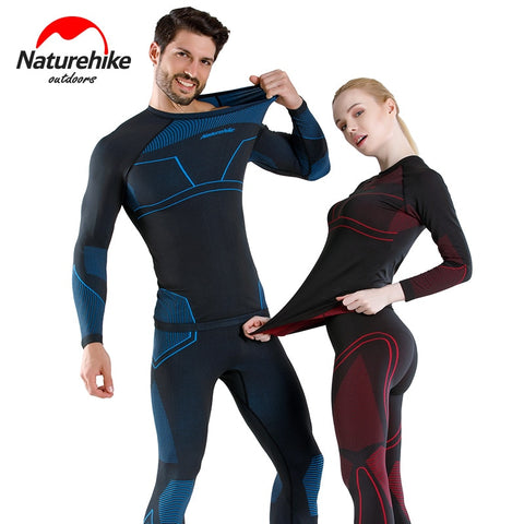 Naturehike Clearance promotion Quick-drying underwear suits for men and women skiing outdoor function wicking thermal underwear 熱下着を吸上げ屋外の機能をスキー、男性と女性のためのNaturehikeクリアランスプロモーション速乾性の下着のスーツ ネイチャーハイク