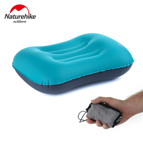 Naturehike Portable Inflatable Pillow Travel Ultralight Air Pillow Neck Pillow Camping Sleeping Gear Fast Use TPU NH17T013-Z 高速使用TPU NH17T013-ZギアスリーピングNaturehikeポータブルインフレータブル枕旅行超軽量エアー枕ネックピローキャンプ ネイチャーハイク
