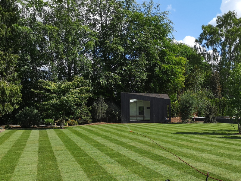 Mowing tips for a newly laid garden lawn