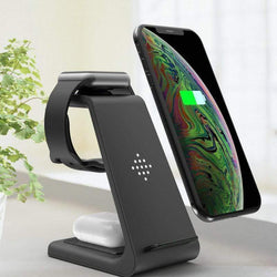 3-In-1 Wireless Fast Charger Charging Station for Samsung Apple - WatchExtra
