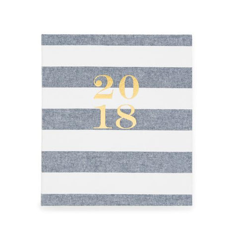 2018 SIGNATURE AGENDA CHAMBRAY STRIPE