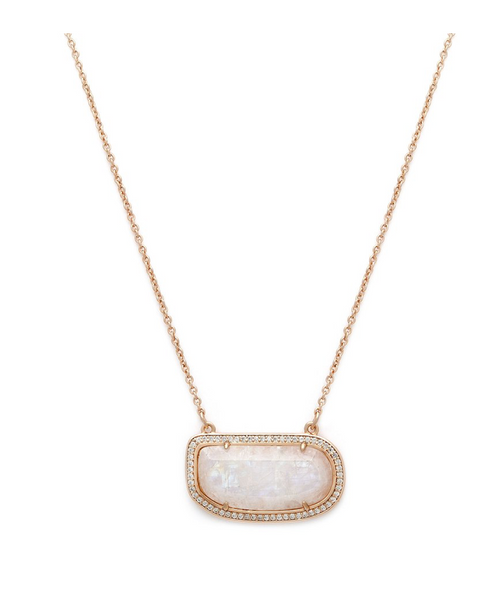 STONE SLICE NECKLACE | MOONSTONE GOLD