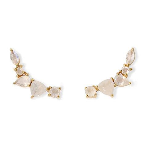 WING MOONSTONE EAR CLIMBERS