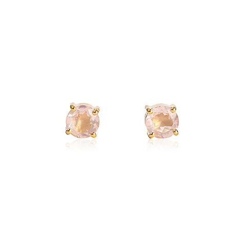 PRONG STUDS - ROSE QUARTZ