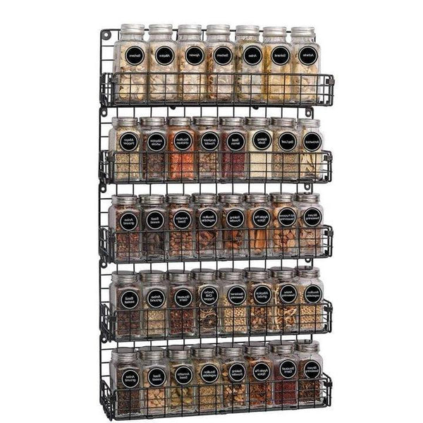 5-Tier Wall Mounted Spice Rack