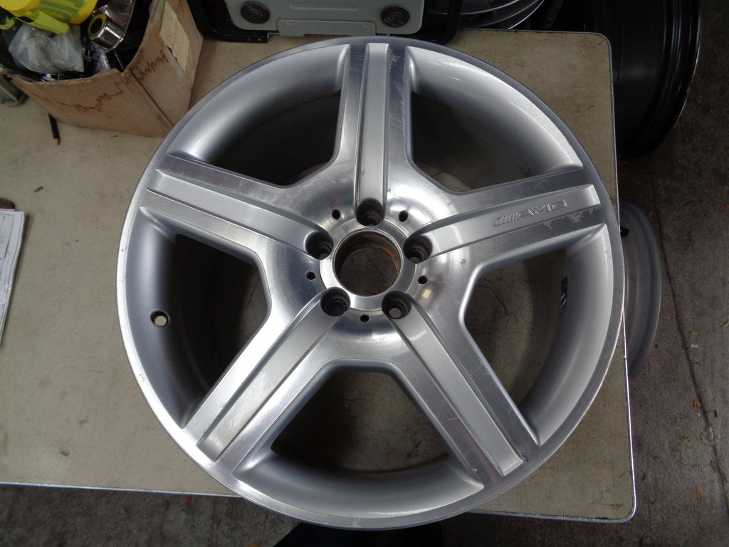 ALY85022 2008-11 MERCEDES S400 S450 S550 19X9.5 REAR MACHINIED SILVER #2214012702