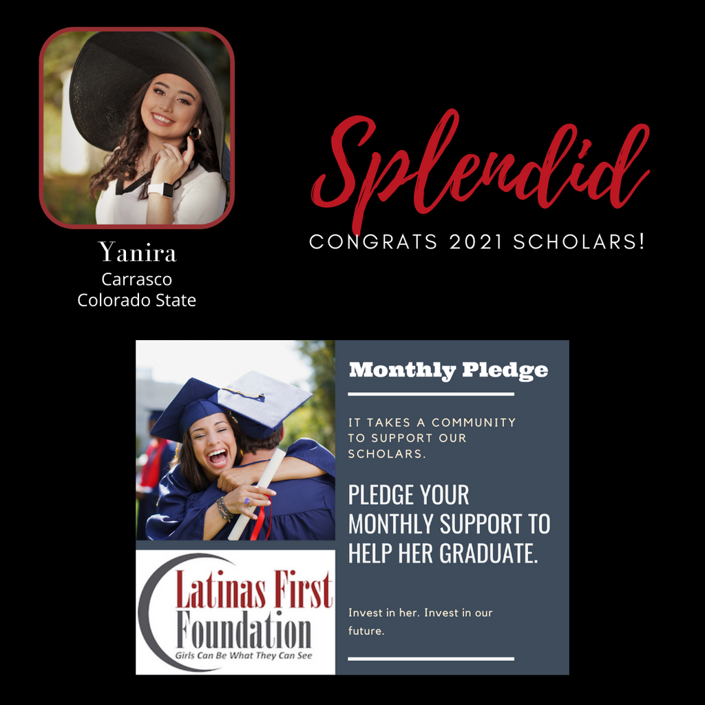 Scholarship winner and donate now link