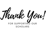 Thank you for supporting out scholars