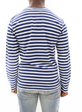COMME des GARÇONS PLAY | Play Striped LongT-Shirt (Blue/White)
