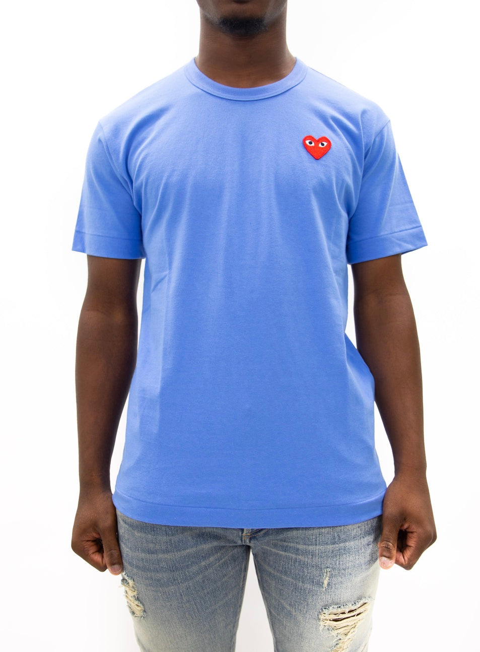 COMME des GARÇONS PLAY | Play Color Series T-Shirt Red Heart (Blue)