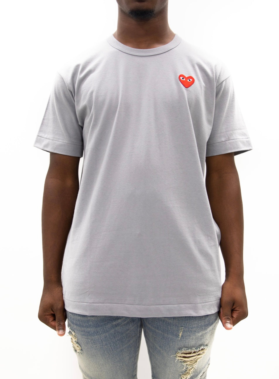 COMME des GARÇONS PLAY | Play Color Series T-Shirt Red Heart (Grey)