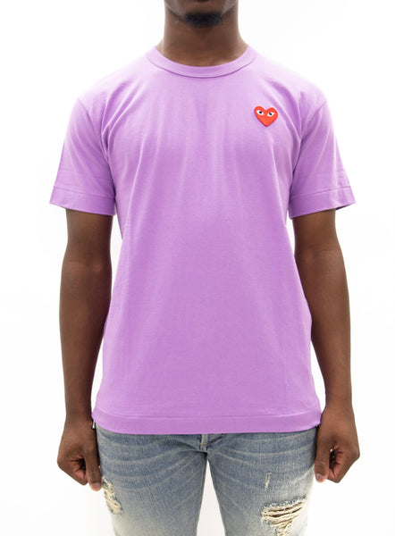 COMME des GARÇONS PLAY | Play Color Series T-Shirt Red Heart (Purple)