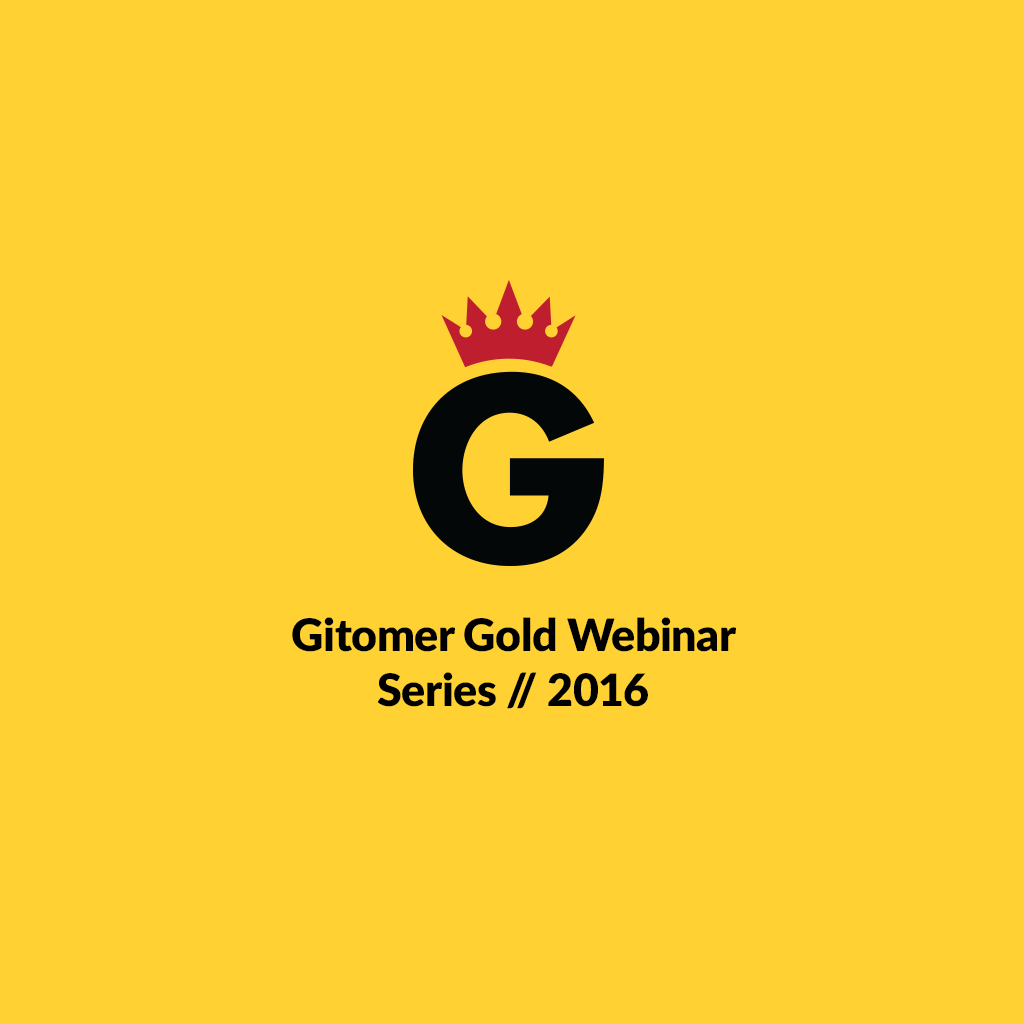 Gitomer Gold Webinar Series 2016