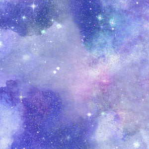"Magical Galaxy ""Quara Sky Glitter""-3 Wishes-Fat Quarter"