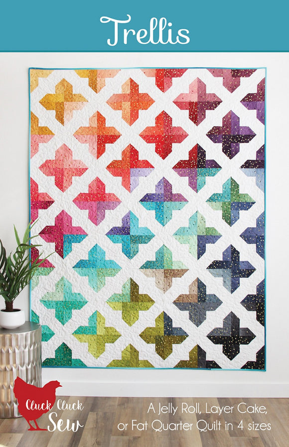 Trellis Quilt Pattern by Cluck, Cluck Sew