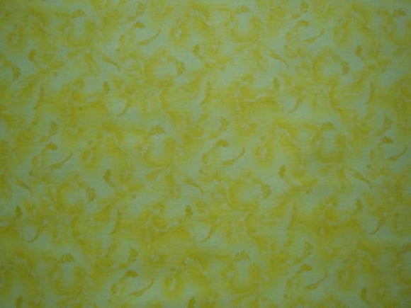 Yellow Tonal Novelty Print-Choice Fabrics-BTY