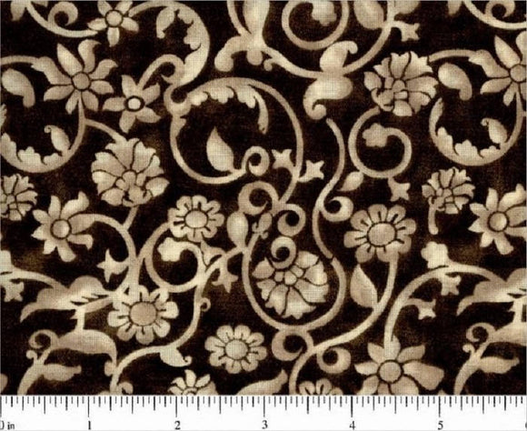 Tan Novelty Design on Brown B/G-108