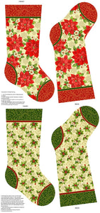 Tis the Season Stocking Panel by Northcott Fabrics