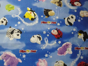 Pillow Pets on Blue B/G-Print Concepts-BTY