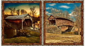 "Artworks VII ""Covered Bridges"" Digital Panel by Quilting Treasures"