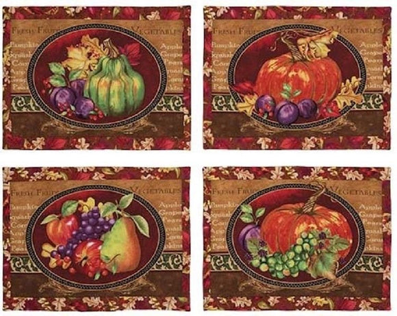 Thankful Harvest Placemats Panel by Wilmington Prints