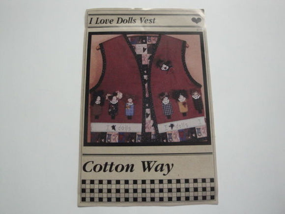 I Love Dolls Vest Pattern by Cotton Way