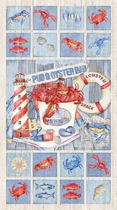 Seafood Shack Panel by Northcott Fabrics