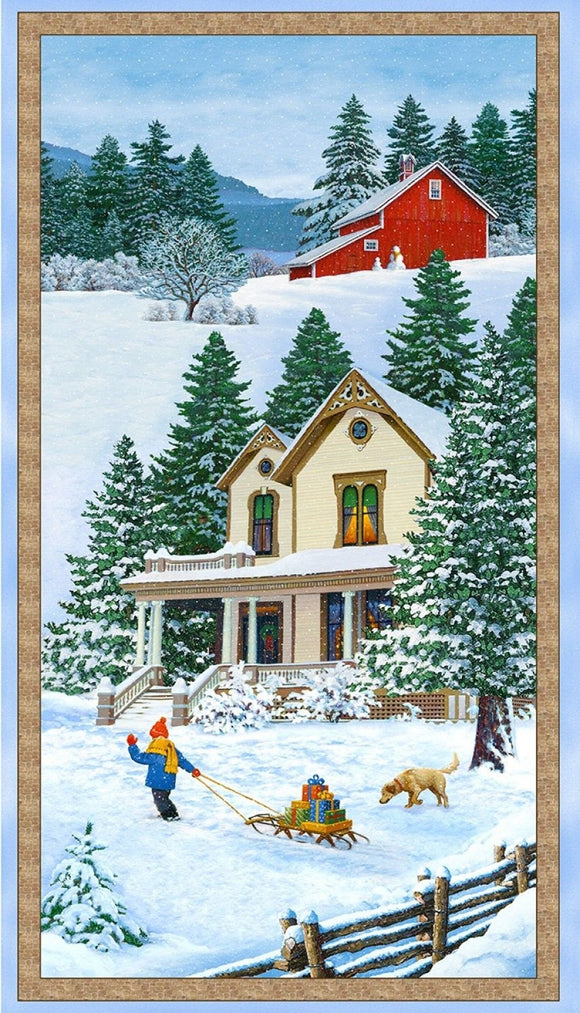 Bringing Christmas Home Panel by Wilmington Prints