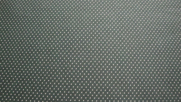 Tiny White Dots on Dark Green B/G-Fat Quarter