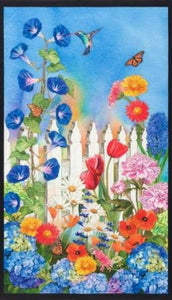 Vibrant Garden Panel by Robert Kaufman