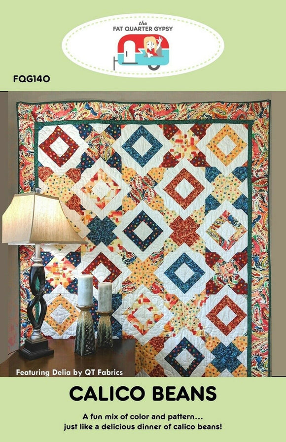 Calico Beans Quilt Pattern by Fat Quarter Gypsy