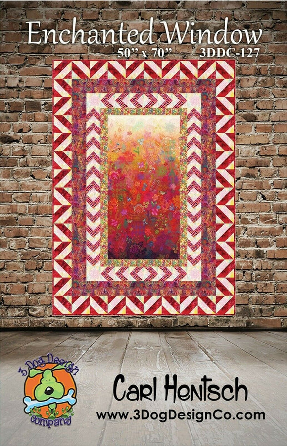 Enchanted Window Quilt Pattern by Carl Hentsch for 3 Dog Design Company