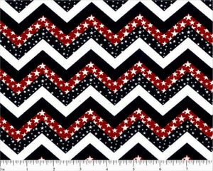 Patriotic Chevron Print-Choice Fabrics-Fat Quarter