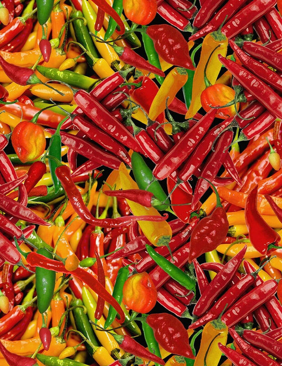 Packed Hot Peppers-Timeless Treasures-Fat Quarter