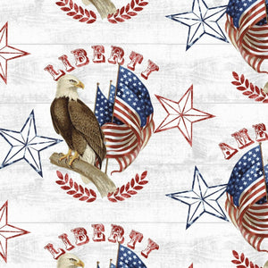 "Live Free ""Eagle Medallion""-Henry Glass-Fat Quarter"