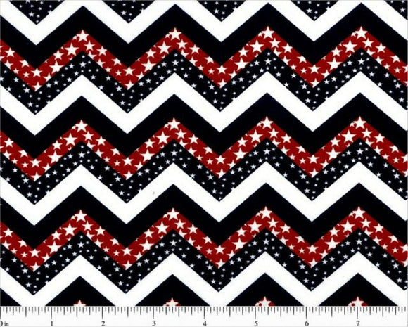 Patriotic Chevron Print-Choice Fabrics-BTY